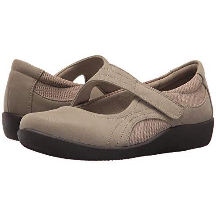 クラークス ベラ 砂色 サンド ヌバック レディース 女性用 靴 【 CLARKS SILLIAN BELLA SAND SYNTHETIC NUBUCK 】