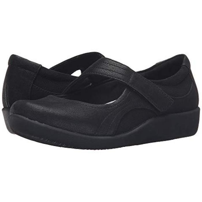 クラークス ベラ 黒 ブラック ヌバック レディース 女性用 レディース靴 【 BLACK CLARKS SILLIAN BELLA SYNTHETIC NUBUCK 】