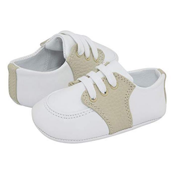【エントリーで全商品ポイント10倍1/9 20:00-1/16 01:59迄】ベイビー ディア ベビー 赤ちゃん用 ベビー靴 靴 【 BABY DEER CONNER4176DTB INFANT WHITE TAN 】