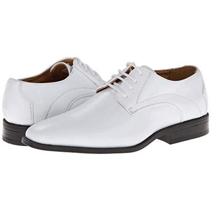【エントリーで全商品ポイント10倍1/9 20:00-1/16 01:59迄】アダムス 白 ホワイト 子供用 リトルキッズ マタニティ フォーマル靴 【 STACY ADAMS KIDS CARMICHAEL WHITE 】