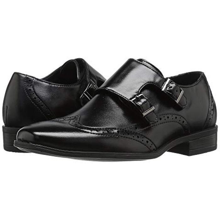 【エントリーで全商品ポイント10倍1/9 20:00-1/16 01:59迄】アダムス 黒 ブラック 子供用 リトルキッズ 靴 ベビー 【 BLACK STACY ADAMS KIDS BREWSTER 】