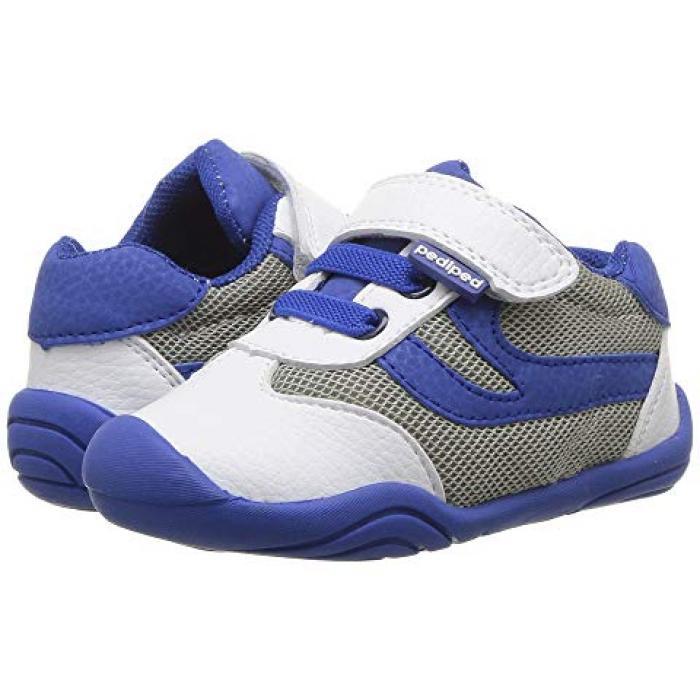 【エントリーで全商品ポイント10倍1/9 20:00-1/16 01:59迄】クリフ グリップ ゴー ベビー 赤ちゃん用 ベビー靴 靴 【 PEDIPED CLIFF GRIP N GO TODDLER WHITE BLUE 】