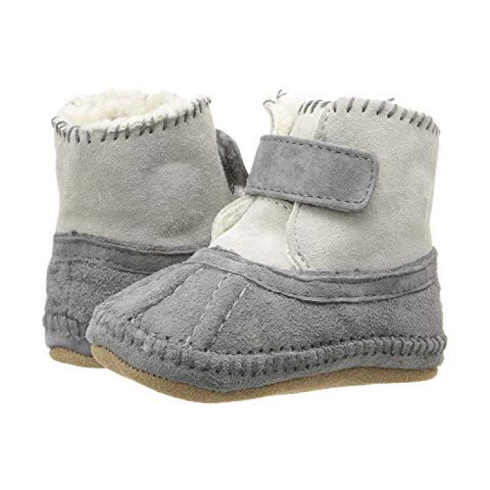 【エントリーで全商品ポイント10倍1/9 20:00-1/16 01:59迄】コージー ソフト ソール GRAY灰色 グレイ ベビー 赤ちゃん用 靴 【 GREY ROBEEZ GALWAY COZY BOOTIE SOFT SOLE INFANT TODDLER 】