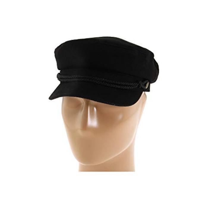 ブリクトン 黒 ブラック ヘリンボーン ツイル メンズ 男性用 ハット メンズ帽子 【 BLACK BRIXTON FIDDLER HERRINGBONE TWILL 】