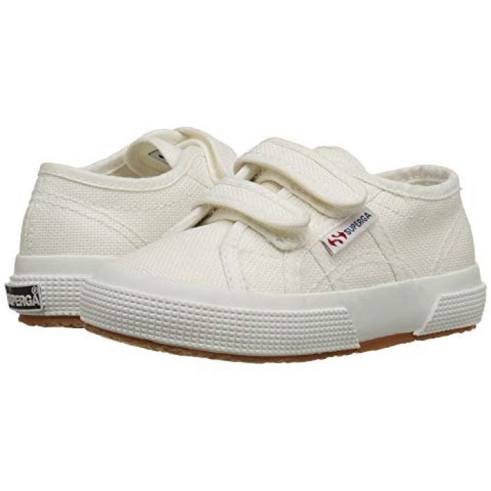 クラシック 白 ホワイト 子供用 ビッグキッズ 靴 【 SUPERGA KIDS 2750 JVEL CLASSIC TODDLER WHITE 】