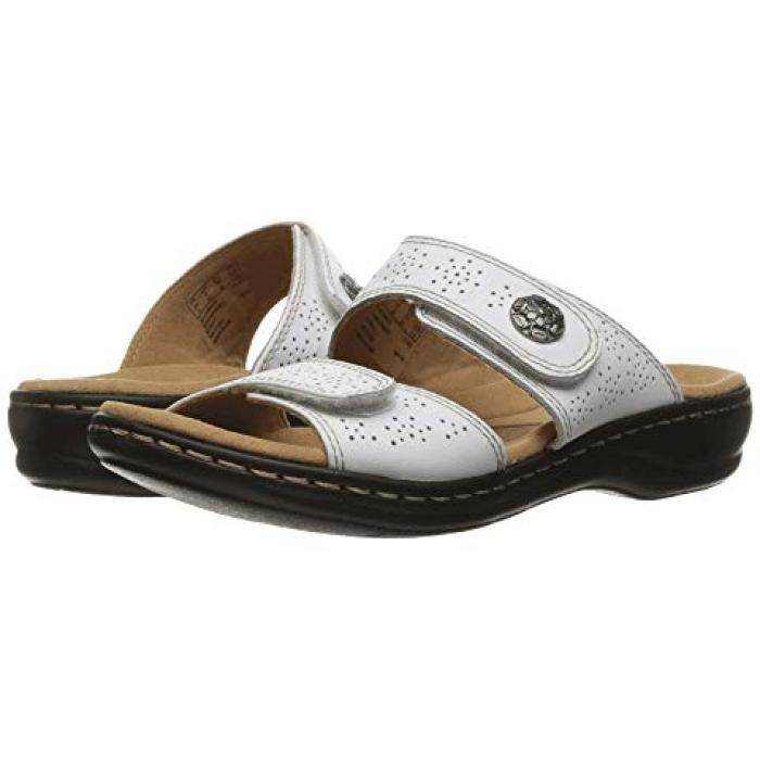 クラークス 白 ホワイト レザー レディース 女性用 サンダル レディース靴 【 CLARKS LEISA LACOLE WHITE LEATHER 】