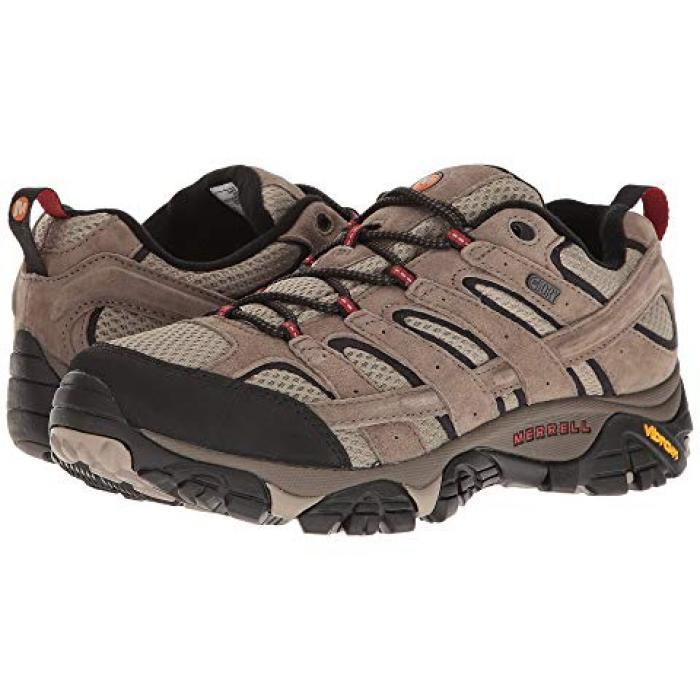 ウォータープルーフ 防水 茶 ブラウン メンズ 男性用 靴 【 MERRELL MOAB 2 WATERPROOF BARK BROWN 】