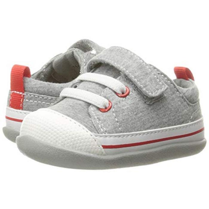 シー カイ ラン スティービー 灰色 グレー グレイ ジャージ ベビー 赤ちゃん用 ファッション 靴 【 GRAY SEE KAI RUN KIDS STEVIE II INFANT TODDLER JERSEY 】