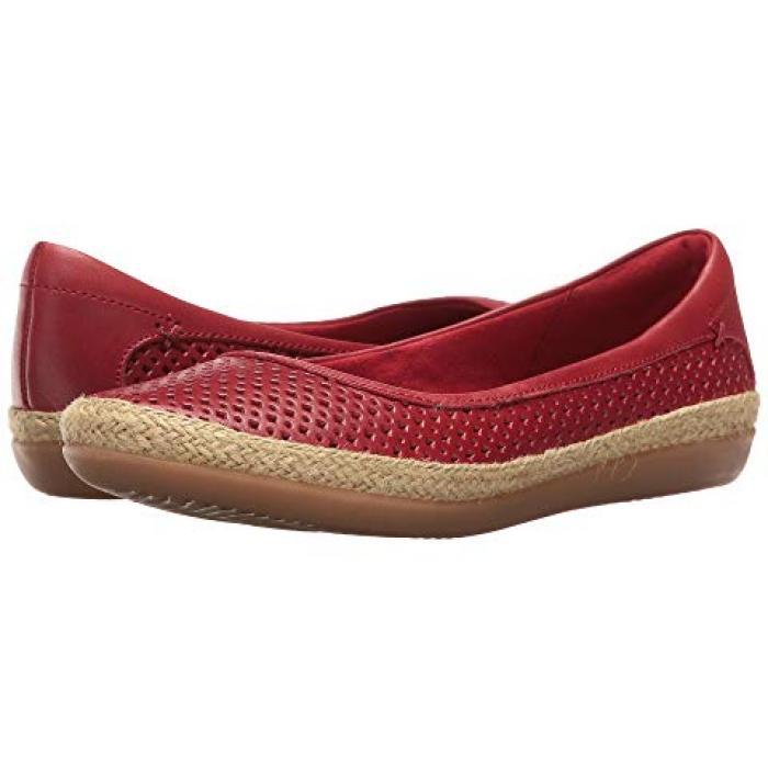 クラークス 赤 レッド レザー レディース 女性用 レディース靴 【 CLARKS DANELLY ADIRA RED LEATHER 】
