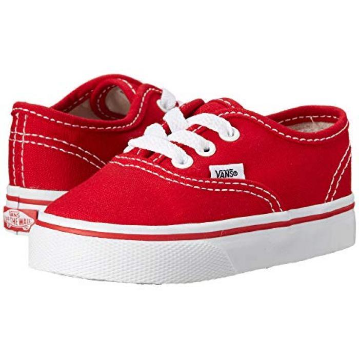 バンズ オーセンティック コア 赤 レッド ベビー 赤ちゃん用 ベビー服 ベビー靴 【 VANS AUTHENTIC KIDS CORE TODDLER RED 】