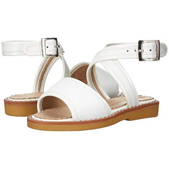 サンダル 白 ホワイト 子供用 ビッグキッズ 靴 【 ELEPHANTITO VALERIA SANDAL TODDLER WHITE 】