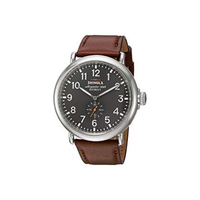 デトロイト メンズ 男性用 メンズ腕時計 腕時計 【 SHINOLA DETROIT THE RUNWELL 47MM 20018330 TAN SLATE 】