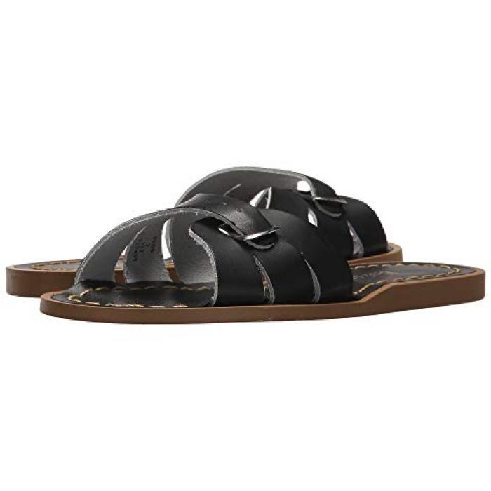 【エントリーで全商品ポイント10倍1/9 20:00-1/16 01:59迄】ソルト ウォーター サンダル シューズ 運動靴 クラシック 黒 ブラック 子供用 リトルキッズ マタニティ ベビー 【 SLIDE BLACK SALT WATER SANDAL BY HOY SHOES CLASSIC 】