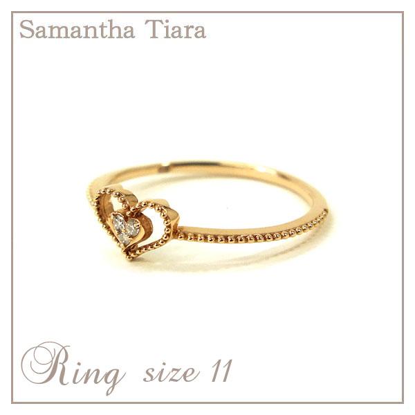 サマンサタバサ アクセサリー Samantha Tiara サマンサティアラ K18SPG Dia ピンクゴールド 11号 アクセサリー プレゼント ギフト 指輪 リング