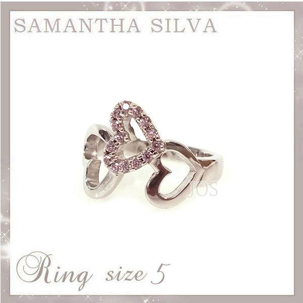 サマンサタバサ アクセサリー Samantha Silva サマンサシルバ SV CZ ハートダイヤリング 5号 ピンク アクセサリー プレゼント ギフト 指輪 リング