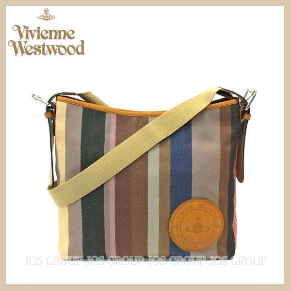 ヴィヴィアンウエストウッド バッグ バック VIVIENNE WESTWOOD ビビアン マルチストライプ ショルダーバッグ