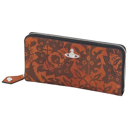 ヴィヴィアンウエストウッド Vivienne Westwood 財布 ポゲダタイル ラウンドファスナー 長財布 オレンジ