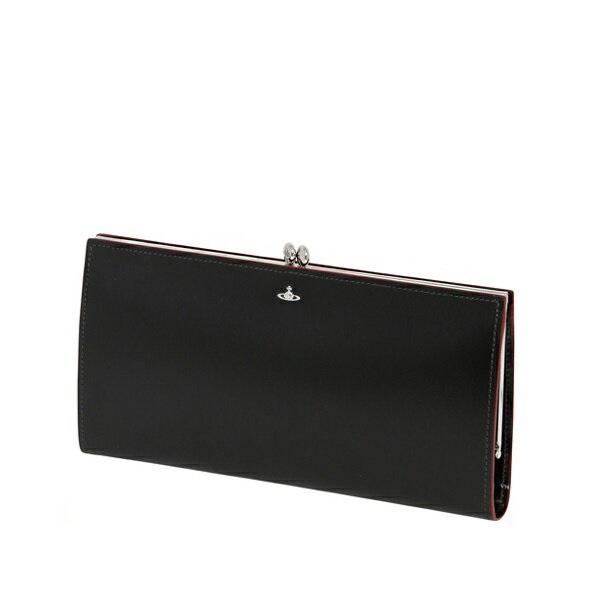 ヴィヴィアンウエストウッド Vivienne Westwood 財布 長財布 SIMPLE TINY ORB 口金長財布 がま口 長札入 ブラック