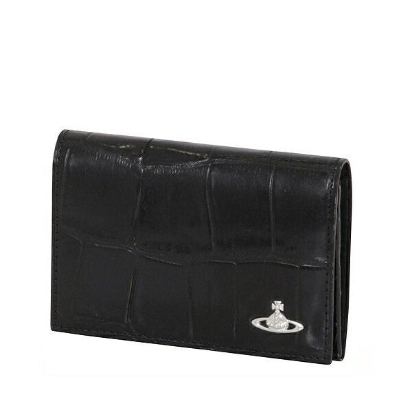 ヴィヴィアンウエストウッド Vivienne Westwood メンズ 財布 クロコ 名刺入れ カードケース ブラック
