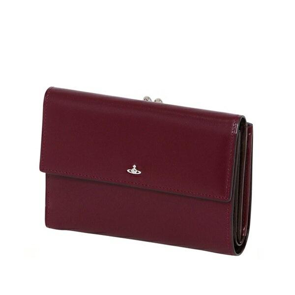 ヴィヴィアンウエストウッド Vivienne Westwood 財布 SIMPLE TINY ORB 二つ折り財布 がま口 パープル