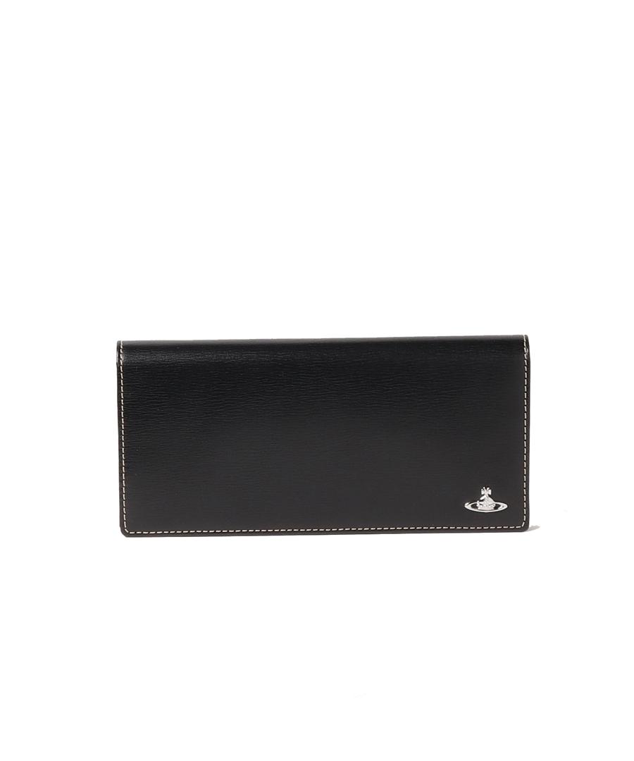 ヴィヴィアンウエストウッド Vivienne Westwood メンズ 財布 インサイドカラー かぶせ 長財布 ブラック