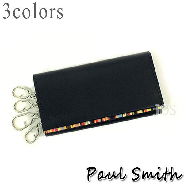 ポールスミス 財布 メンズ Paul Smith ストライプポイント 4連キーケース 全3色 送料無料 代引き料有料 消費税込