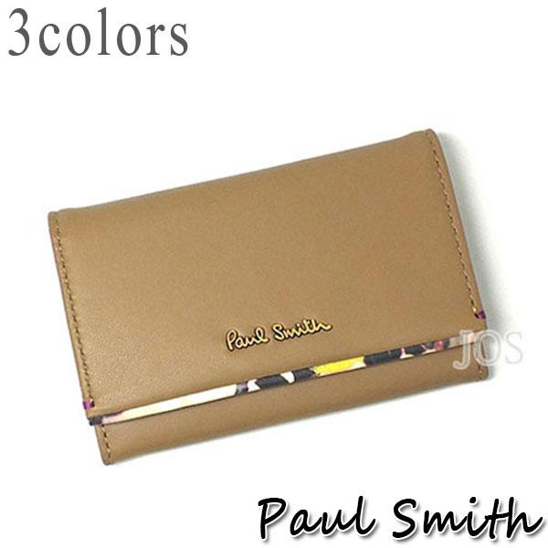 ポールスミス 財布 メンズ レディース Paul Smith フラワーポイント カードケース 全3色 送料無料 代引き料有料 消費税込