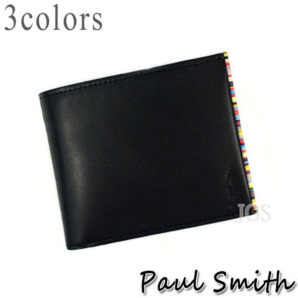 ポールスミス 財布 メンズ Paul Smith ポールスミス ストライプポイント 二つ折り財布 全3色