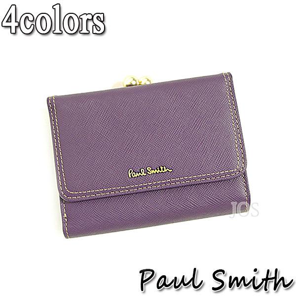 ポールスミス 財布 メンズ レディース Paul Smith クロスグレイン 3つ折り がま口財布 全4色 PWW804 送料無料 代引き料有料 消費税込