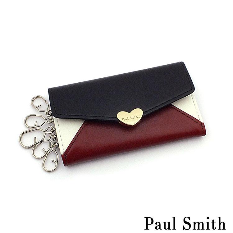 ポールスミス 財布 メンズ レディース Paul Smith バイカラーラブレター 5連キーケース PWD280