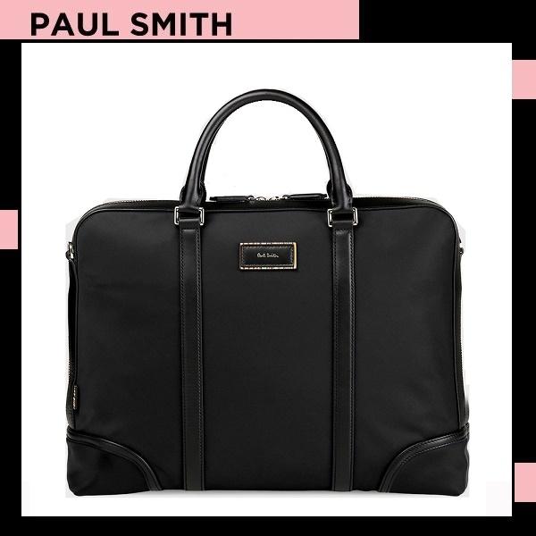 ポールスミス Paul Smith メンズ シティトラベルナイロン 2WAYブリーフケース ブラック 送料無料 代引き料有料 消費税込