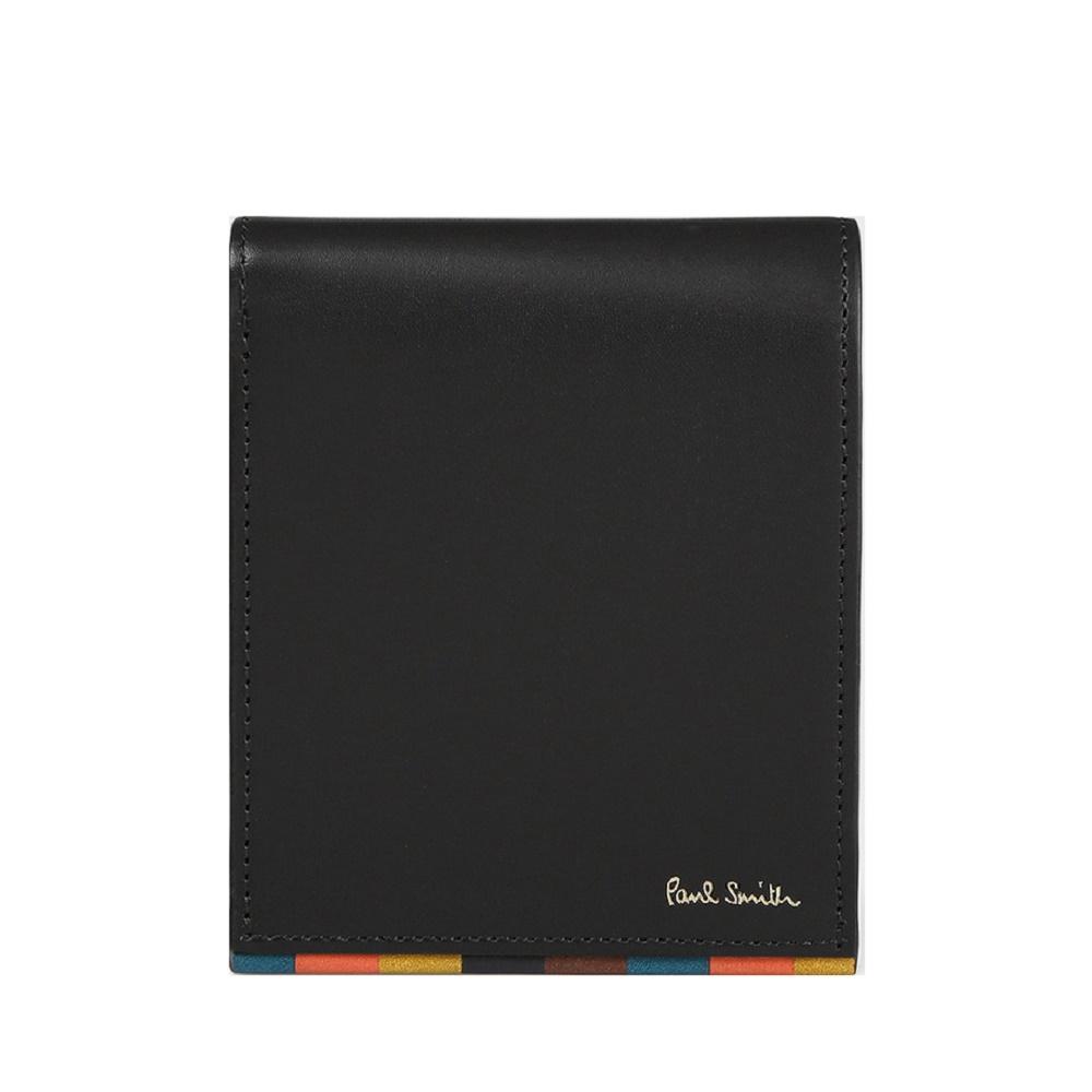 ポールスミス Paul Smith メンズ 財布 ブライトストライプトリム 2つ折り財布 ブラック