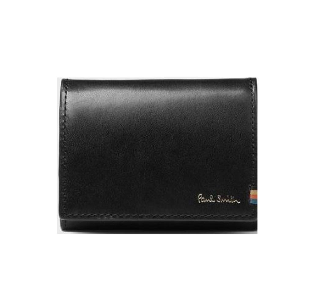 ポールスミス Paul Smith 財布 ポールスミス 財布 メンズ ストライプステッチタブ コインケース 小銭入れ 4カラー ブラック ネイビー ダークブラウン ブラウン