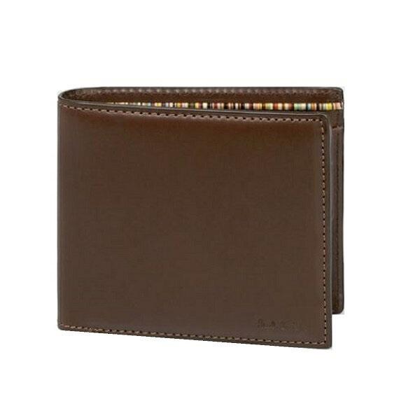 ポールスミス Paul Smith メンズ ンズ 財布 オールドレザー 2つ折り財布 ダークブラウン 送料無料 代引き料有料 消費税込