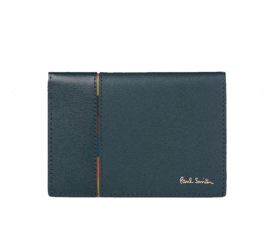 送料無料・消費税込 ポールスミス Paul Smith メンズ 財布 インセットストライプ パスケース ネイビー