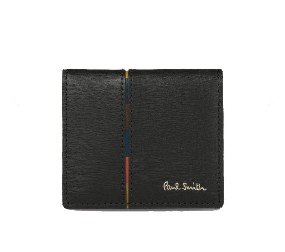 ポールスミス Paul Smith メンズ 財布 インセットストライプ コインケース ブラック