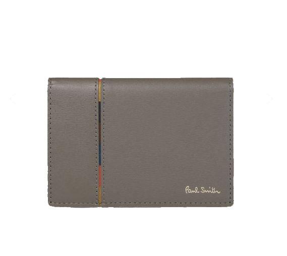 送料無料・消費税込 ポールスミス Paul Smith メンズ 財布 インセットストライプ パスケース チャコールグレー