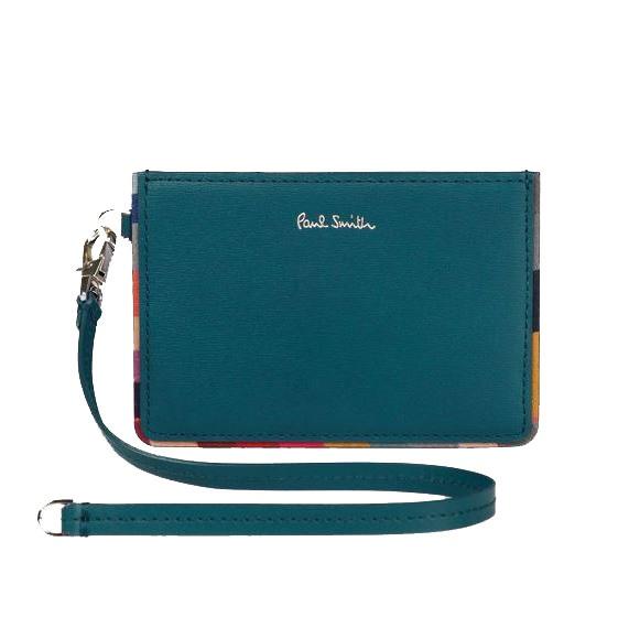 【送料無料・消費税込】 ポールスミス Paul Smith 財布 レディース財布 スワールトリム パスケース 定期入れ ブルー