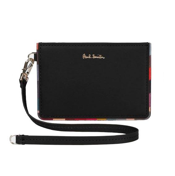 【送料無料・消費税込】 ポールスミス Paul Smith 財布 レディース財布 スワールトリム パスケース 定期入れ ブラック