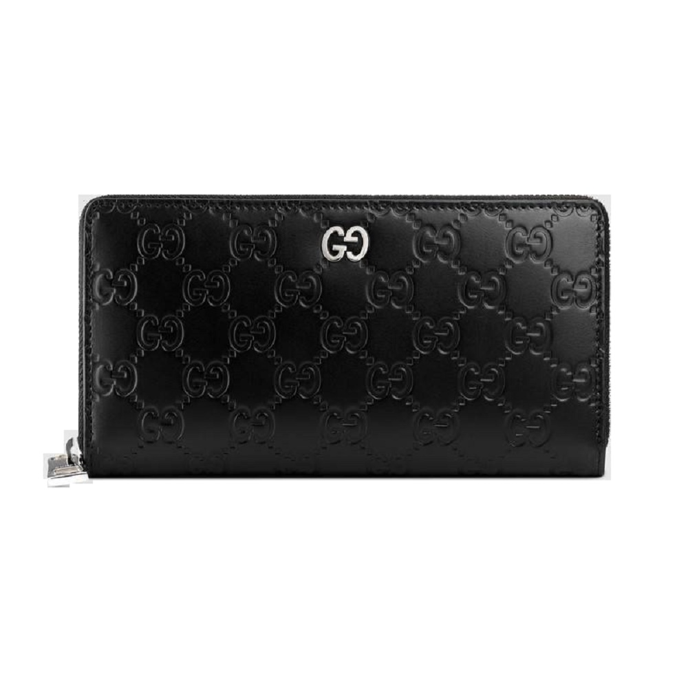 6410579e0ae7 GUCCI Gucci wallet long wallet men leather long wallet Gucci signature  black ...
