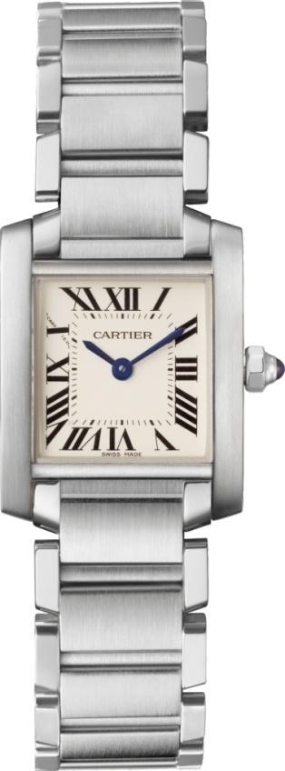 カルティエ CARTIER 時計 タンクソロ フランセーズ ウォッチ SM スティール 腕時計
