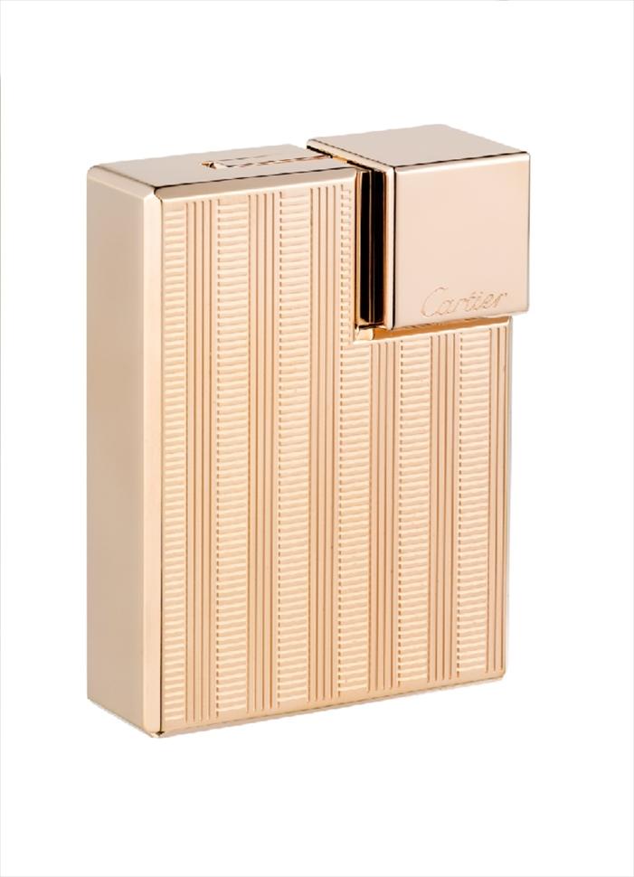 カルティエ Cartier ライター lighter スクエア ウィッカー デコール  ピンクゴールド