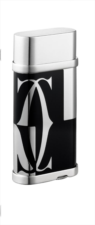 カルティエ Cartier ライター lighter ロゴタイプ デコール オーバル  ブラック