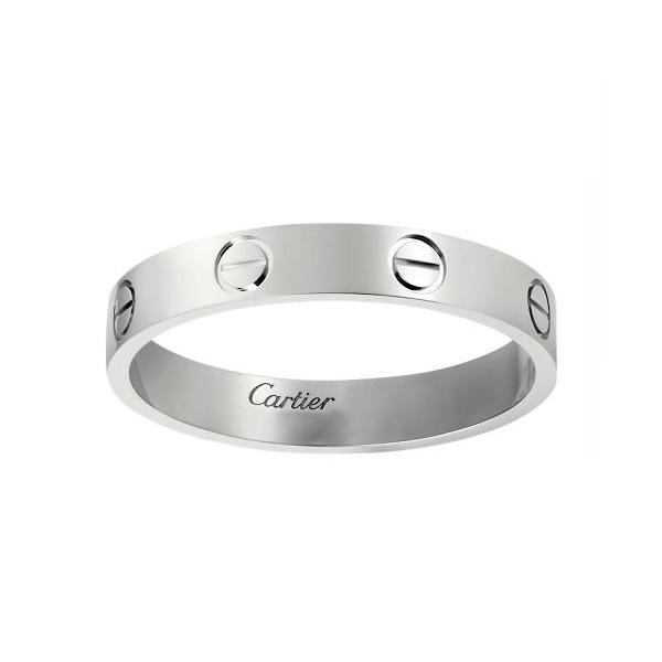 CARTIER カルティエ リング Love wedding band Love ウェディング リング 指輪 プレゼント リクエスト 女性 ホワイトーゴールド