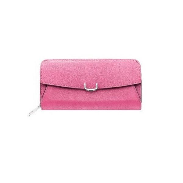 C ドゥ カルティエ 2 Cartier インターナショナル ワレット 長財布 ラウンドジップ ピンク