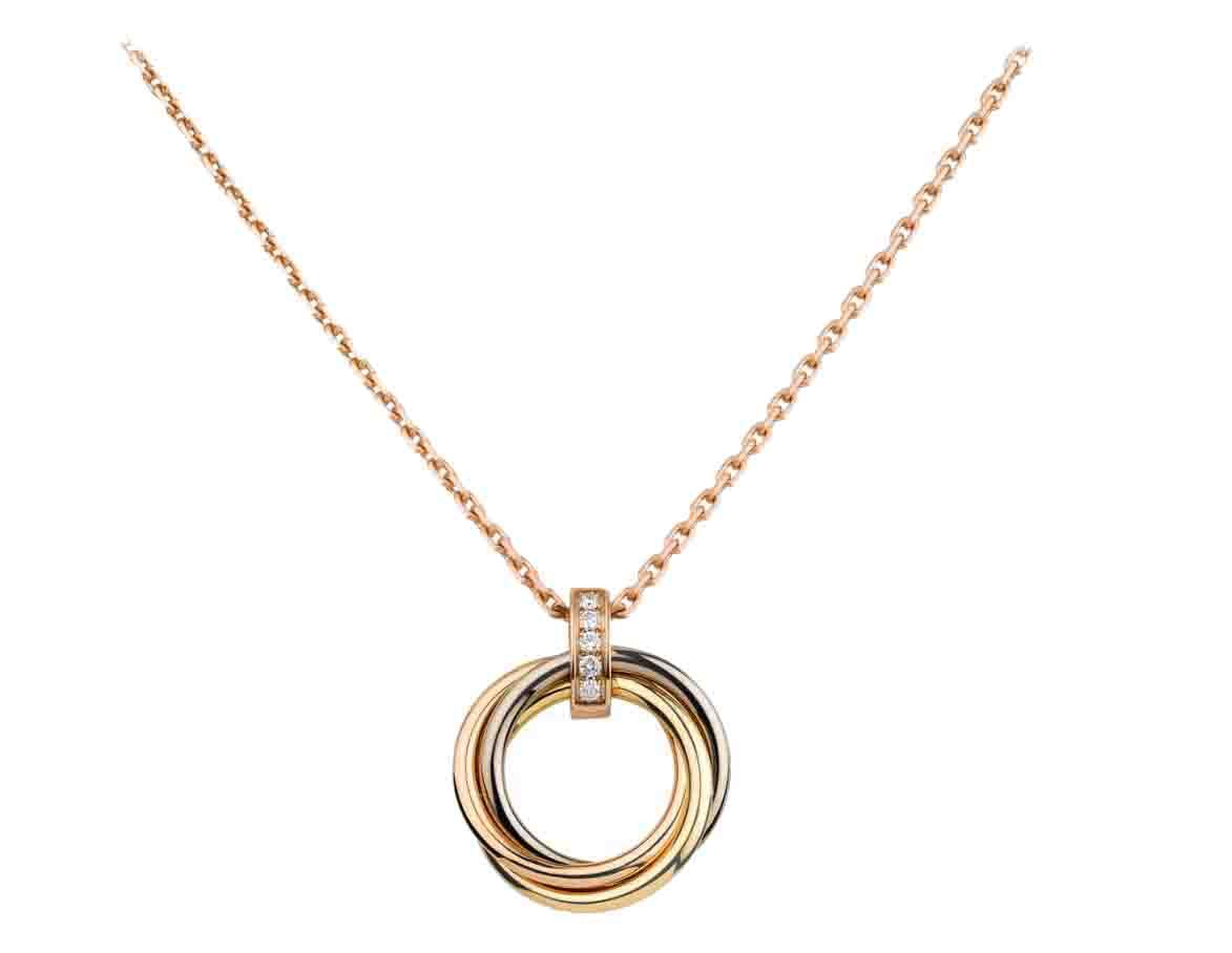 カルティエ TRINITY NECKLACE トリティ ネックレス ホワイトゴールド、イエローゴールド、ピンクゴールド、ダイヤモンド  B7058700