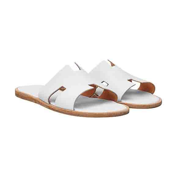 完成品 Hermes エルメス Izmir sandal レザー メンズ サンダル ホワイト 並行輸入 シューズ, カーパーツマルケイ f5e61ce1