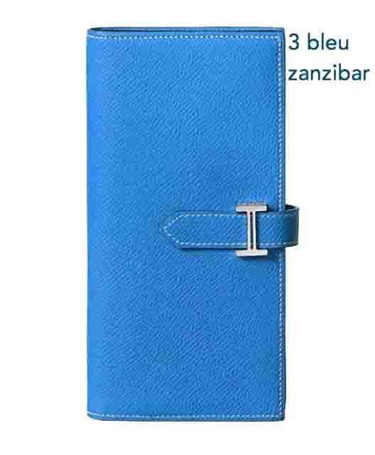 Hermes エルメス 財布 レディース ベアン スフレ BEARN Soufflet 長財布 bleu zanzibar 並行輸入