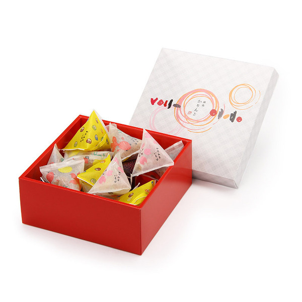 新作続 変わり種のかりんとを色鮮やかなパッケージに入れました セット商品 日本メーカー新品 麻布かりんと 24個入+国産あられ2袋 かりんといろは