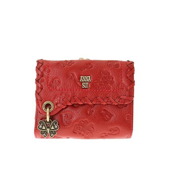 アナスイ ANNA SUI 財布 長財布 ダリア 外がま 外口金 2つ折り財布 財布 レッド